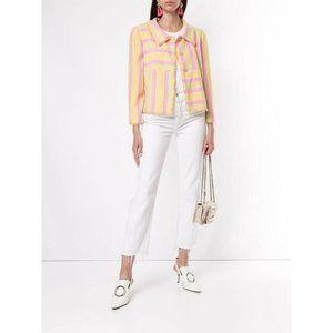 Chanel Tweed Jacket Patchwork Stripe Jackie Pastel